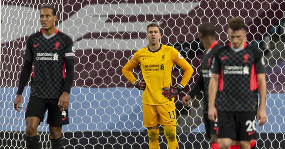 Liverpool look dejected