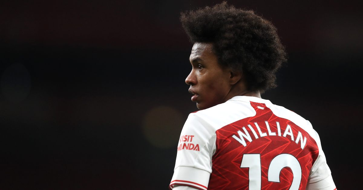Willian on his way out of Arsenal after one season with the club -