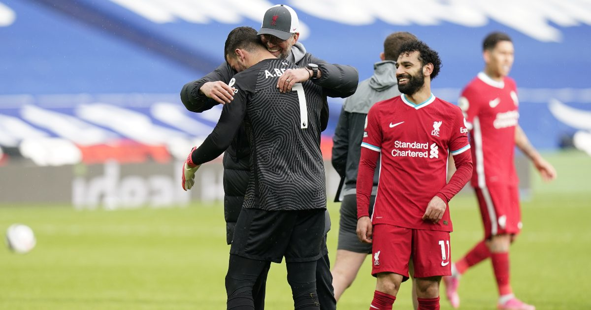 Klopp delighted for Alisson after his 'unbelievable' winning goal thumbnail