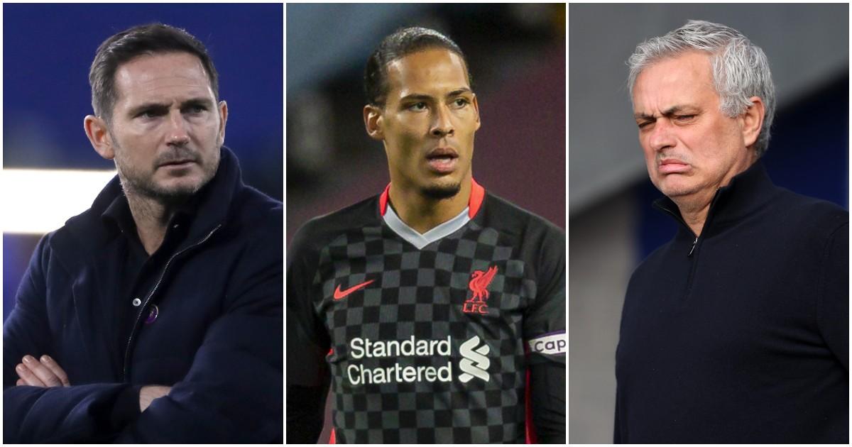 Frank Lampard, Liverpool's Virgil van Dijk and Jose Mourinho