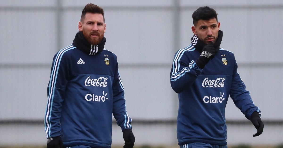 Sergio Aguero Lionel Messi Barcelona F365