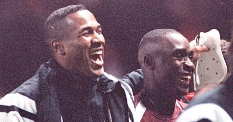 Les Ferdinand and Andy Cole
