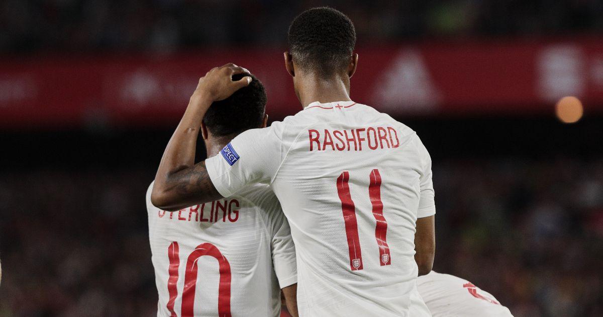 England's Raheem Sterling Marcus Rashford