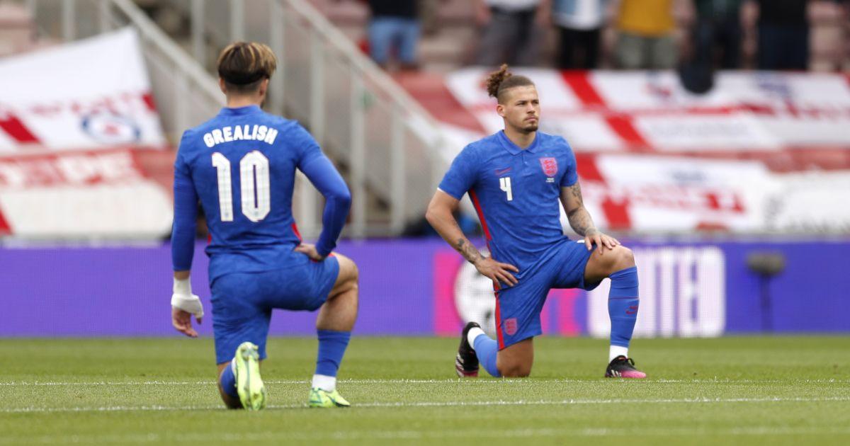 Jack Grealish Kalvin Phillips taking the knee England
