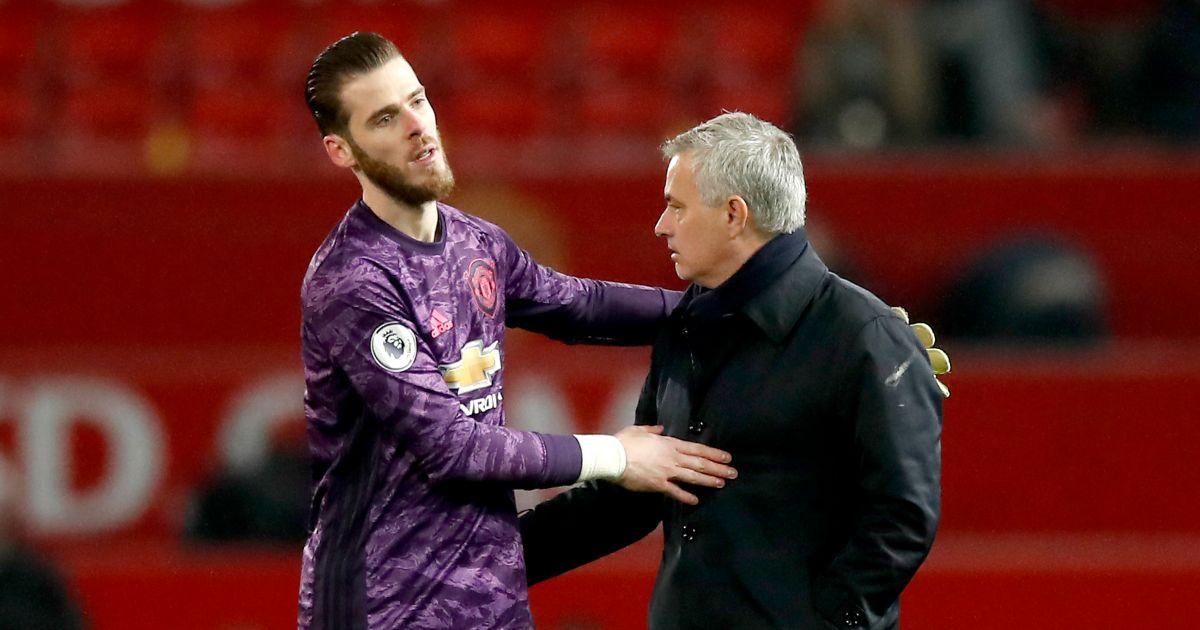 David de Gea Jose Mourinho Man Utd