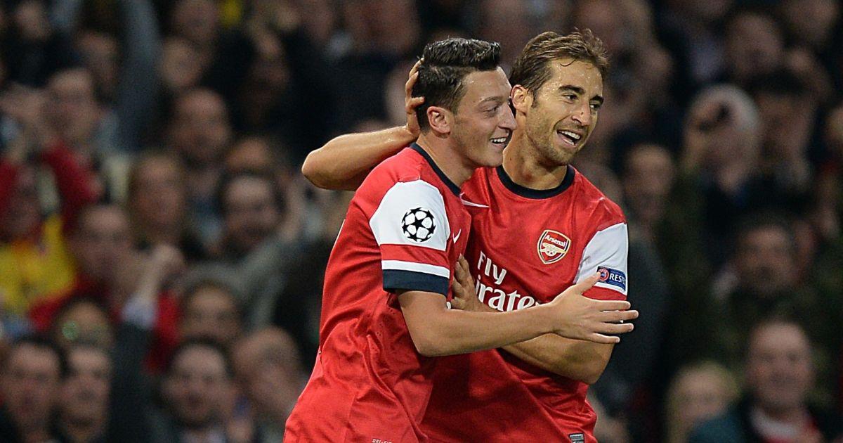 Arsenal Mathieu Flamini Mesut Ozil