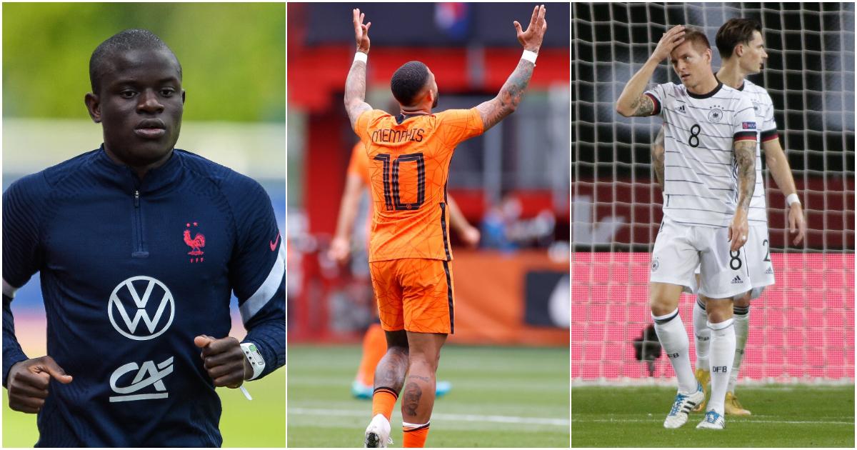 N'Golo Kante Memphis Depay Germany Euro 2020