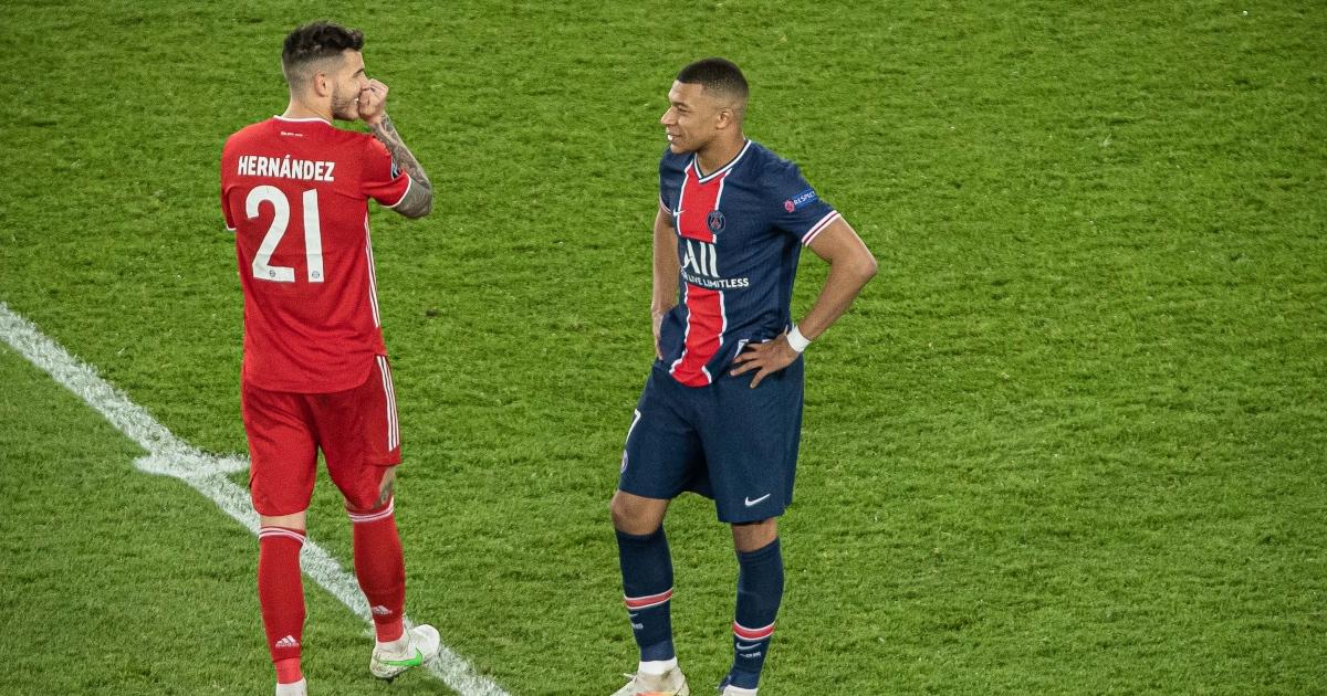 Kylian Mbappe Lucas Hernandez Bayern Munich PSG