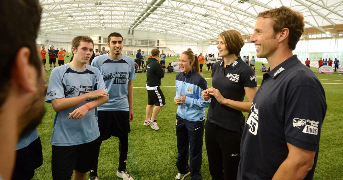 Gareth Southgate and Kelly Sotherton