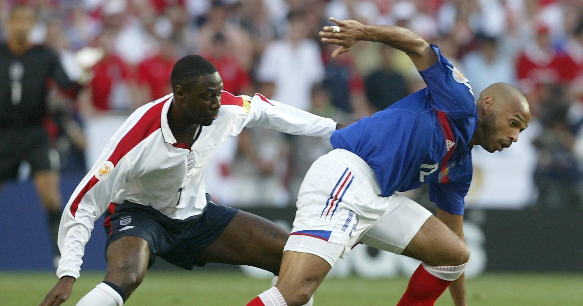 Ledley King and Thierry Henry