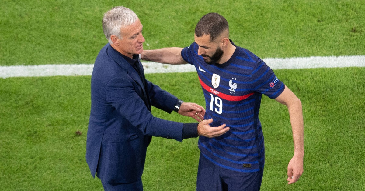Didier Deschamps and Karim Benzema