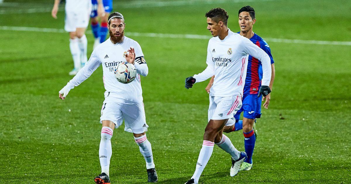 Sergio Ramos Raphael Varane Real Madrid Man Utd