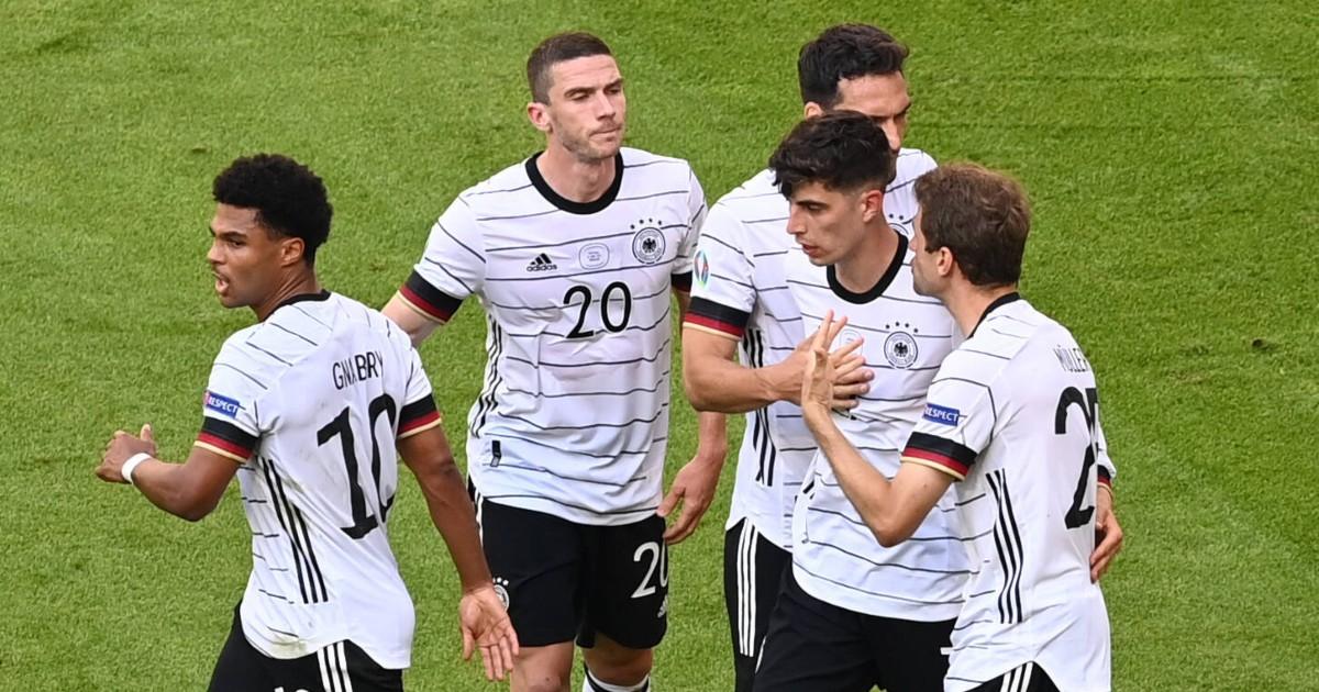 Kai Havertz celebrates his goal