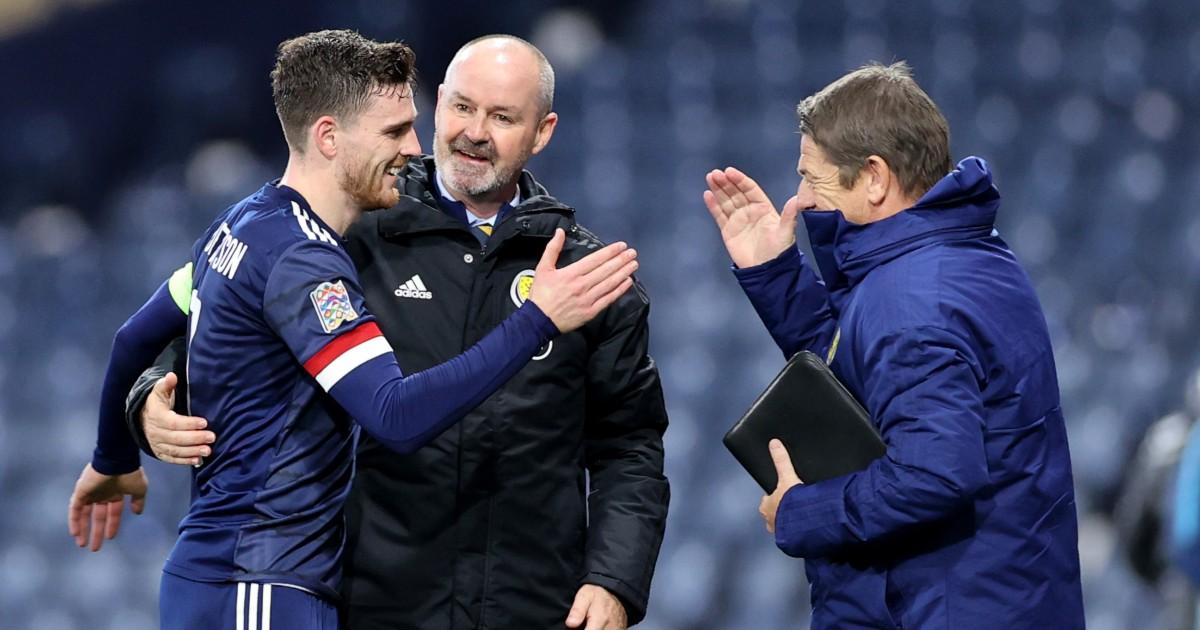 Andy Robertson, Steve Clarke and John Carver