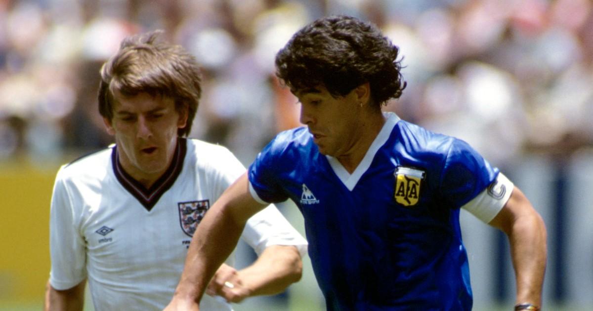 Peter Beardsley and Diego Maradona