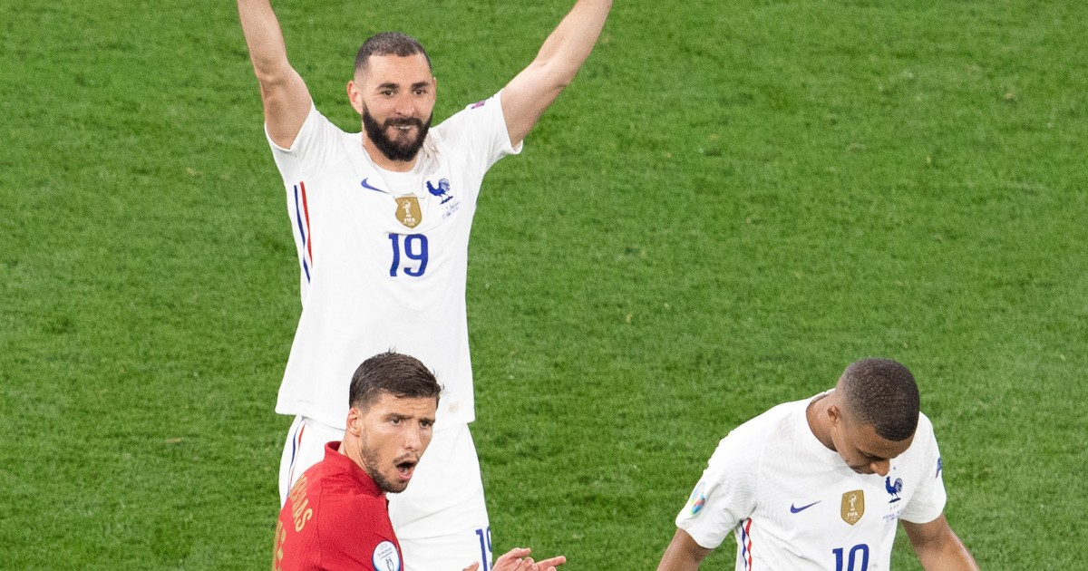 Karim Benzema fête son but