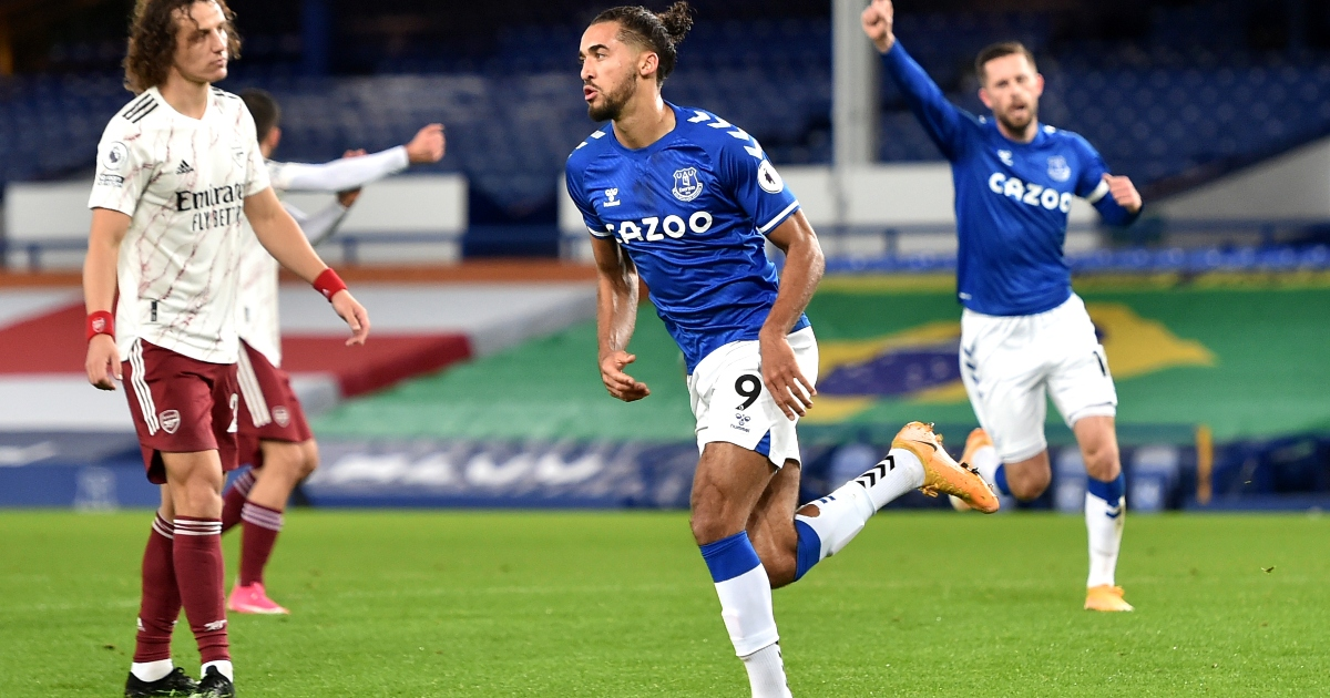 Calvert-Lewin Arsenal Everton
