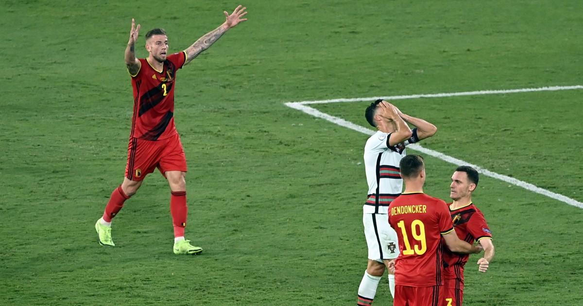 Belgium celebrate at Euro 2020