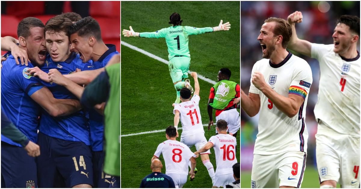 Italy Switzerland England Euro 2020
