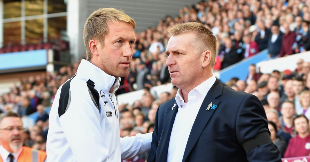 Graham Potter and Dean Smith