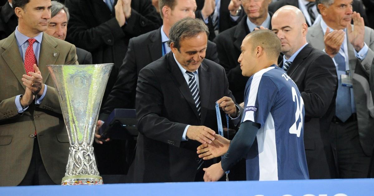 Michel Platini και Bobby Zamora