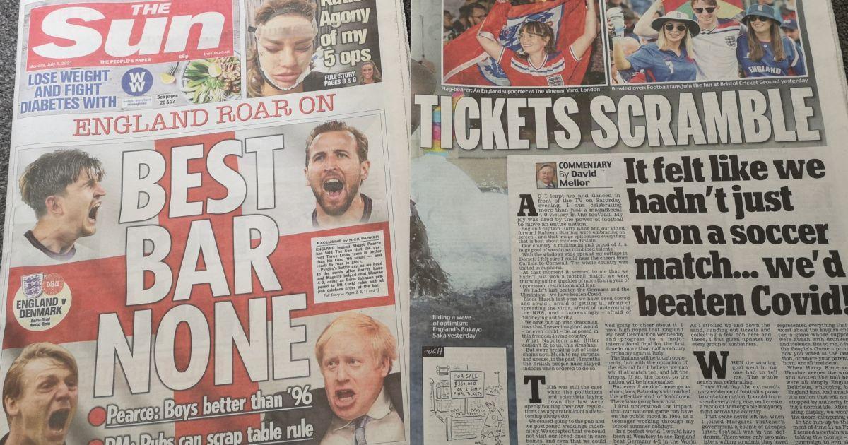 England-Ukraine-tabloids