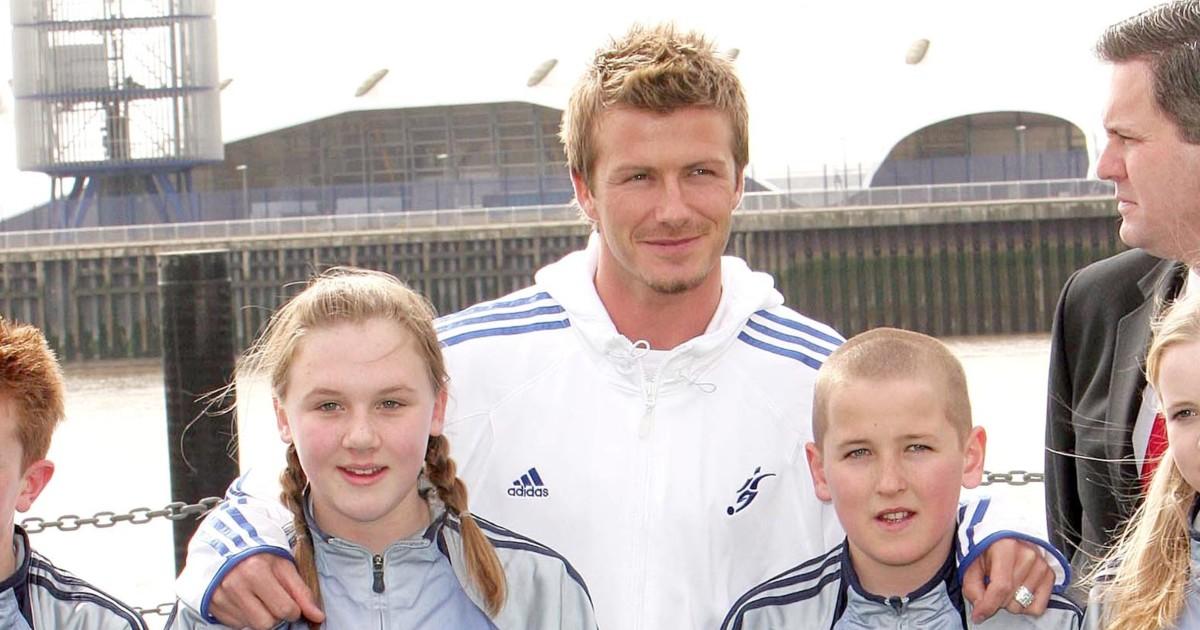Katie Goodland, David Beckham and Harry Kane
