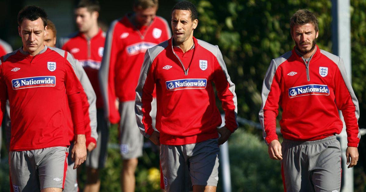 John Terry Rio Ferdinand David Beckham England