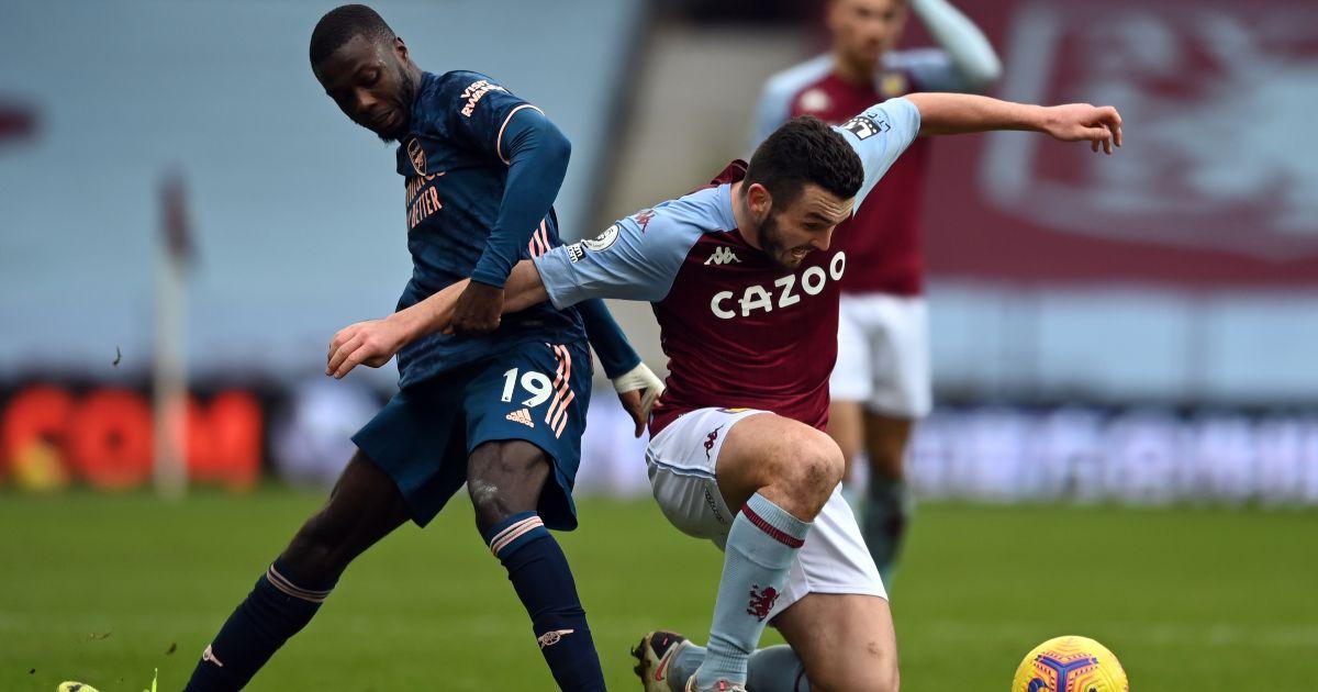 Nicolas Pepe John McGinn Arsenal Aston Villa