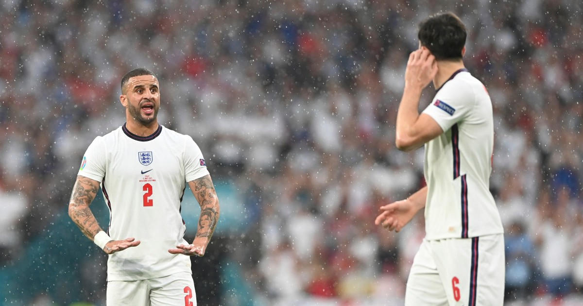 Kyle Walker and Harry Maguire