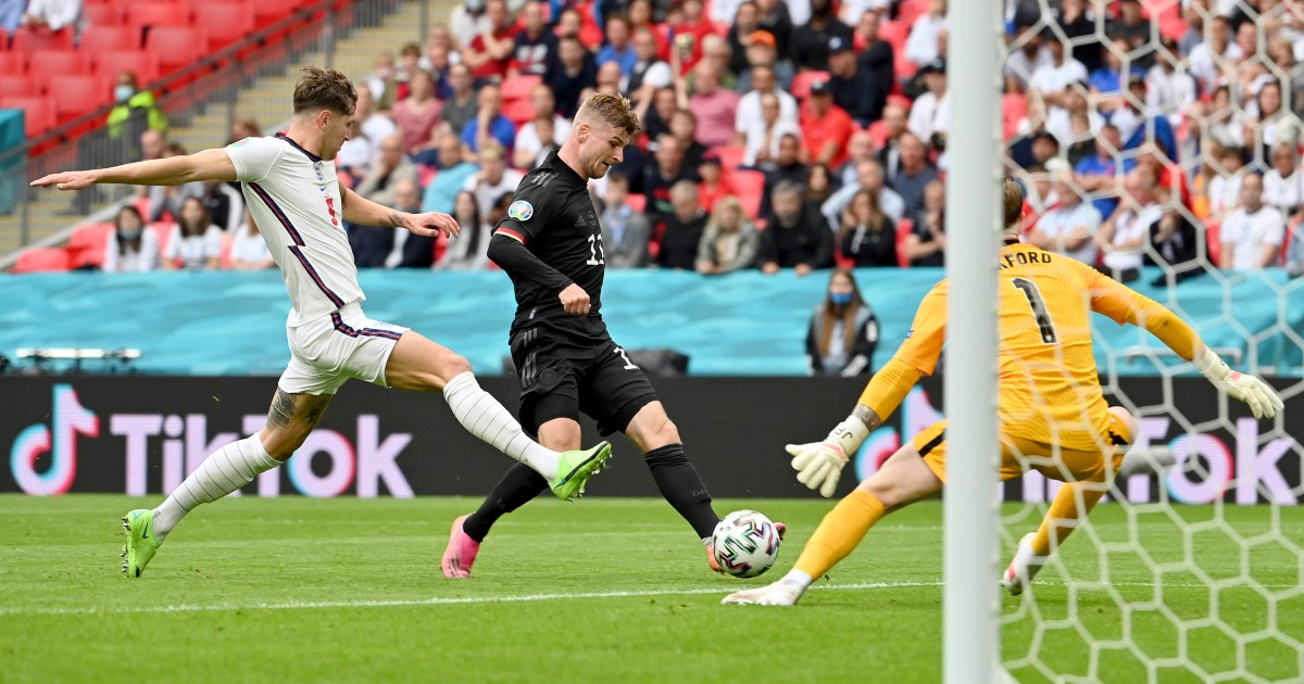 Timo Werner against England