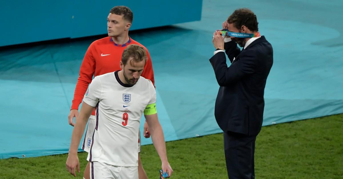 Kieran Trippier, Harry Kane and Gareth Southgate