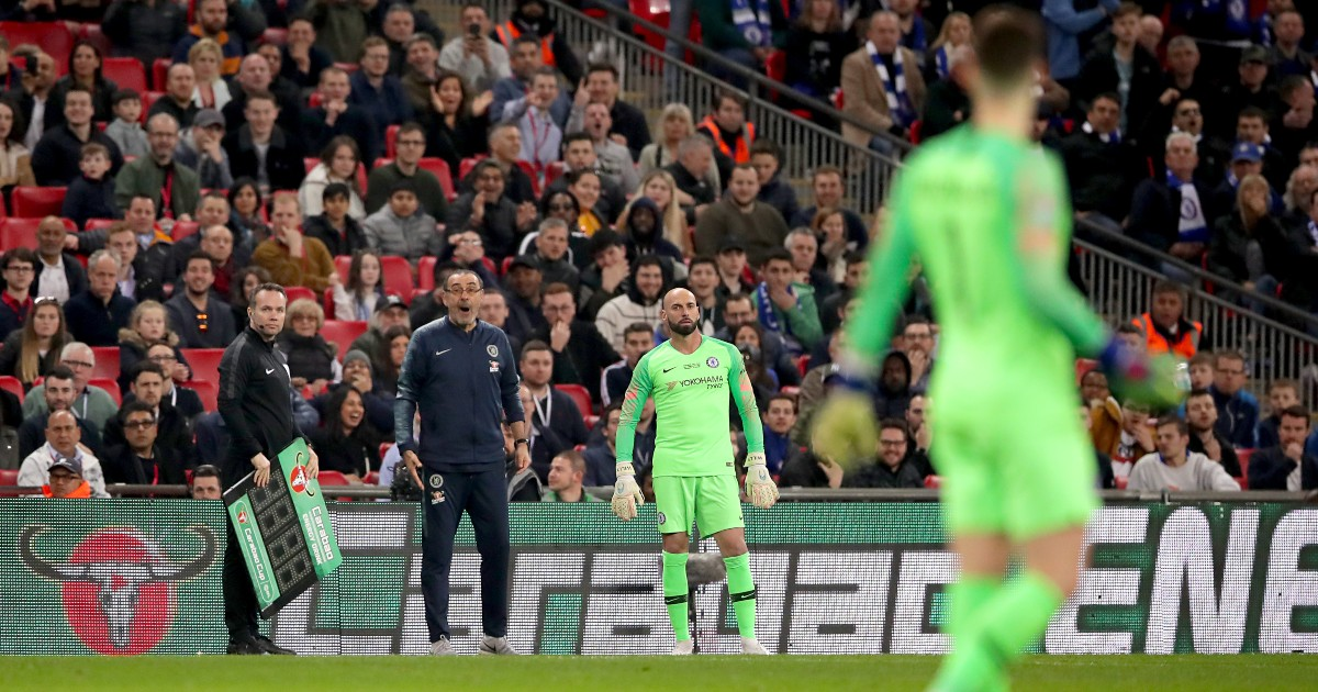 Maurizio Sarri demands that Kepa be substituted