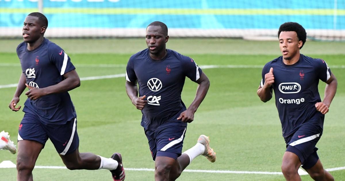 Kurt Zouma, Moussa Sissoko and Jules Kounde