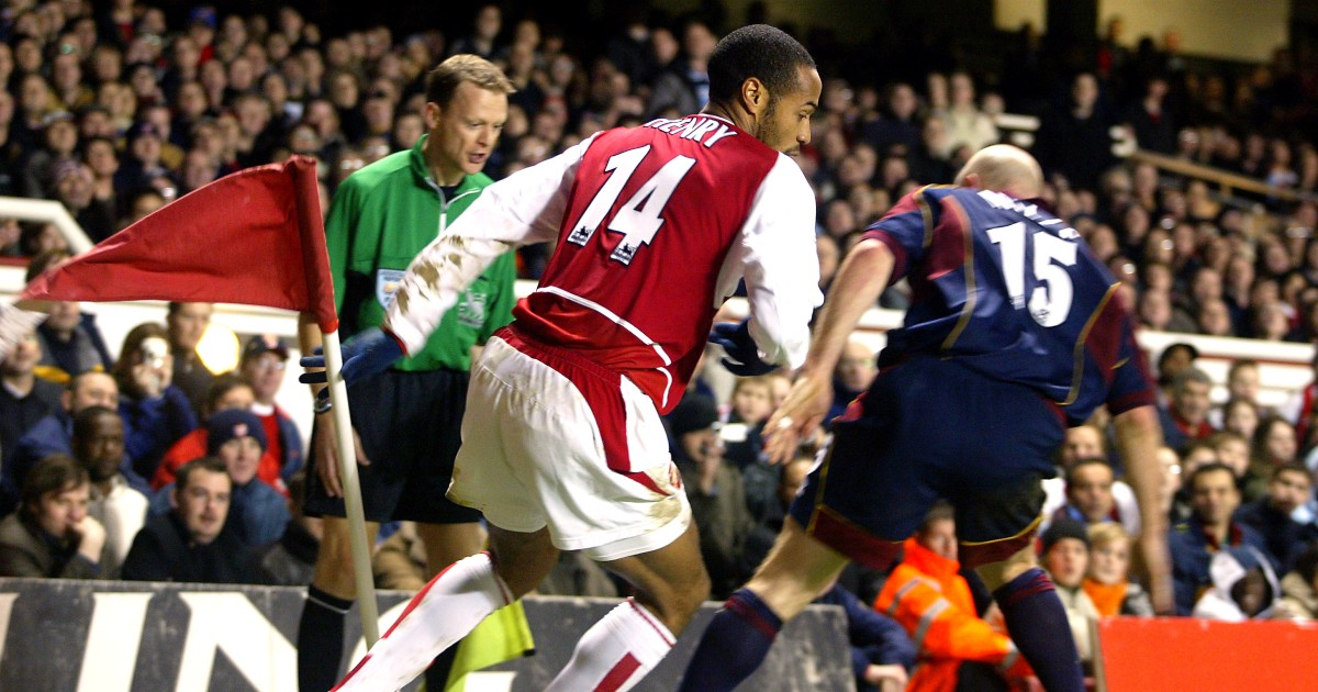 Thierry Henry and Danny Mills