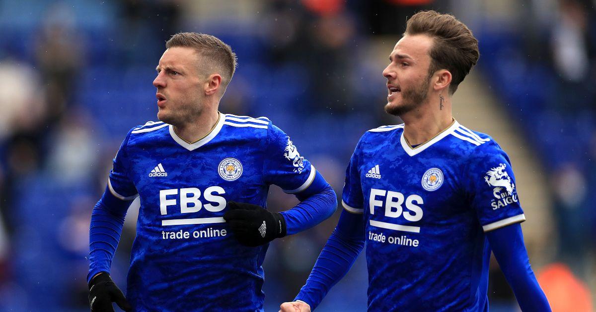 Jamie Vardy James Maddison Leicester City