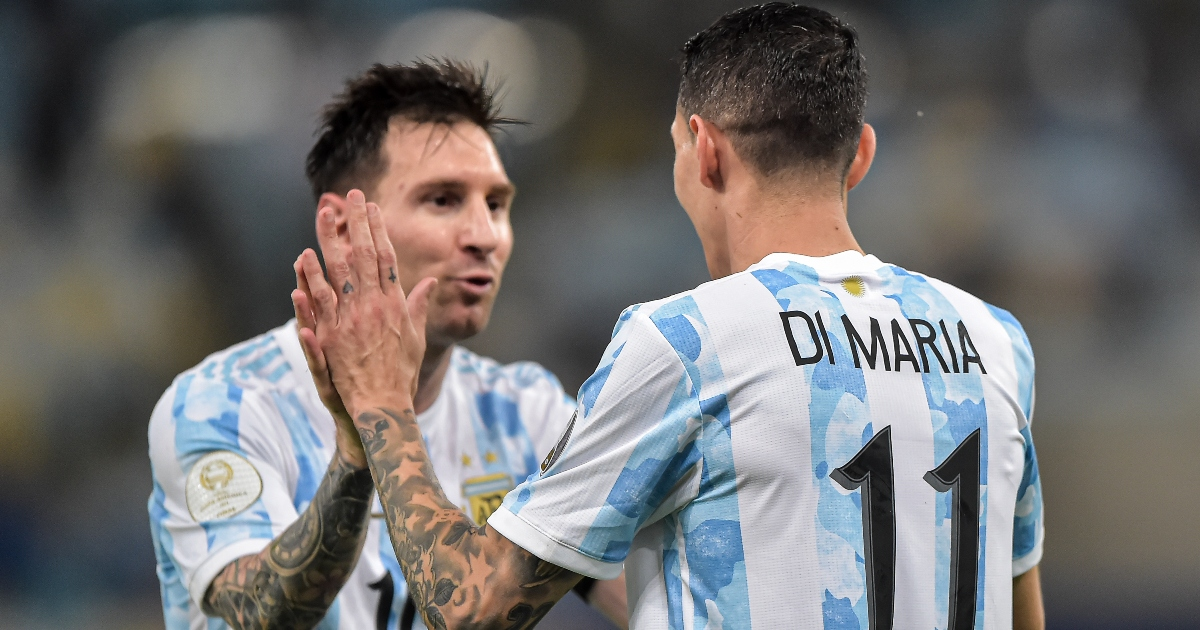 Lionel Messi and Angel Di Maria