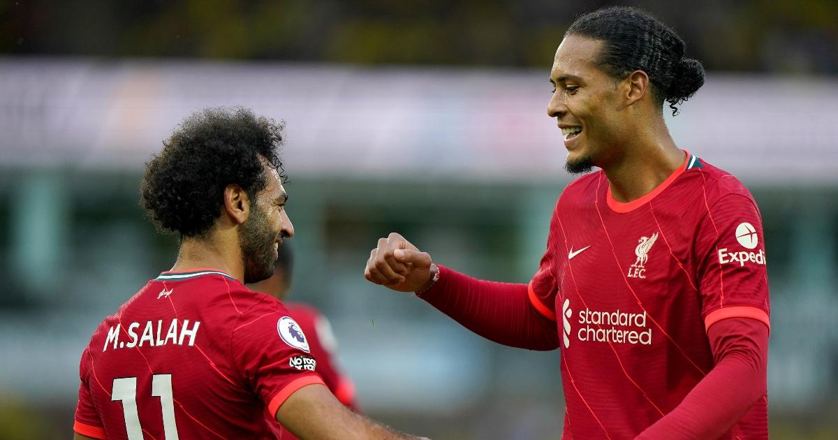 Mohamed Salah and Virgil van Dijk