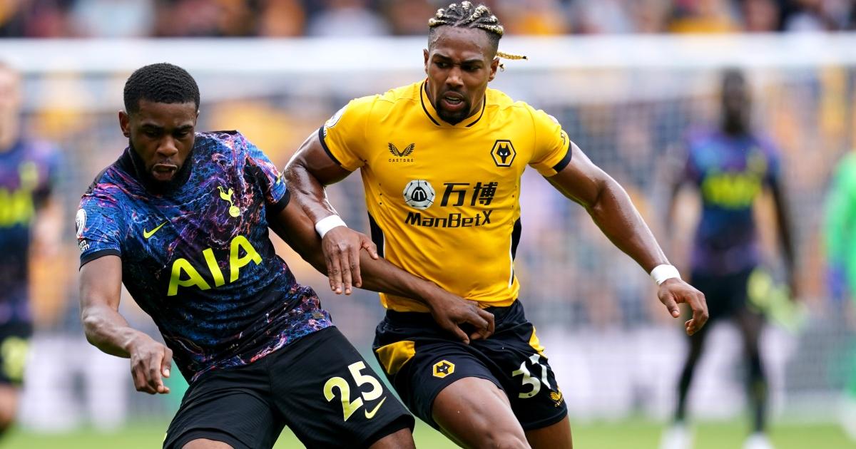 Tottenham Japhet Tanganga Wolves Adama Traore