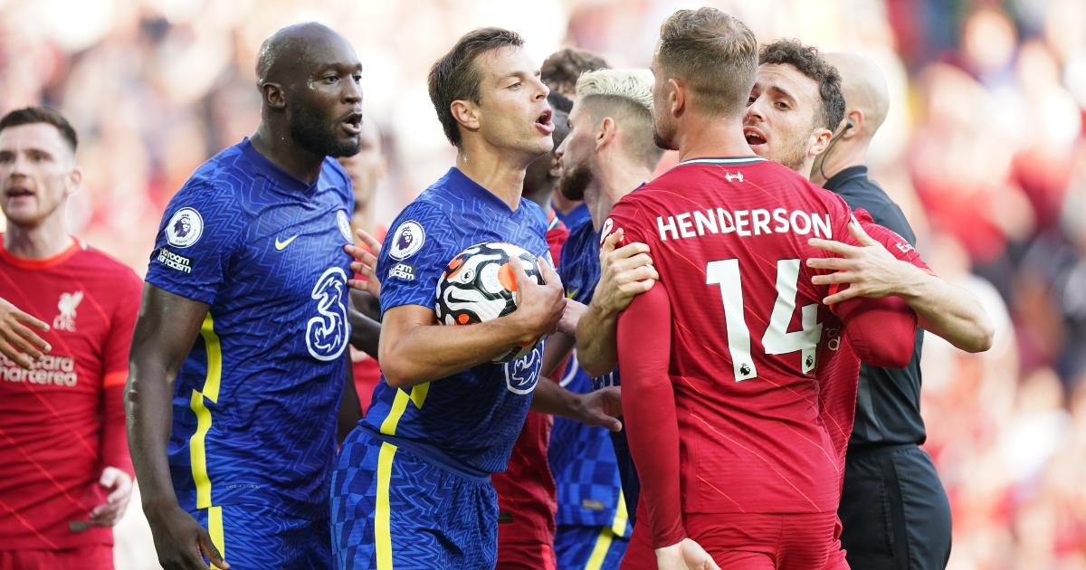 Chelsea Liverpool Cesar Azpilicueta Jordan Henderson