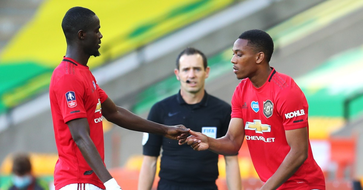 Eric Bailly and Anthony Martial