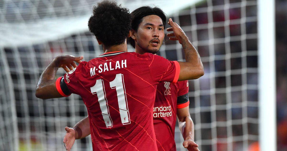 Takumi Minamino Mo Salah Liverpool