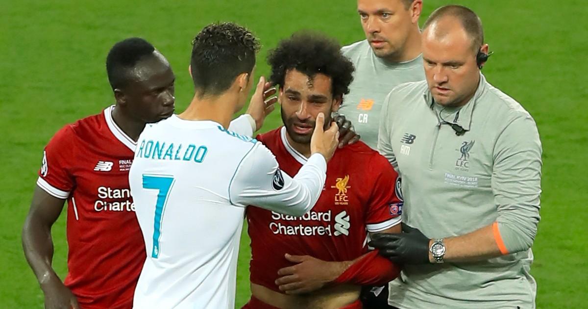 Sadio Mane, Cristiano Ronaldo and Mo Salah
