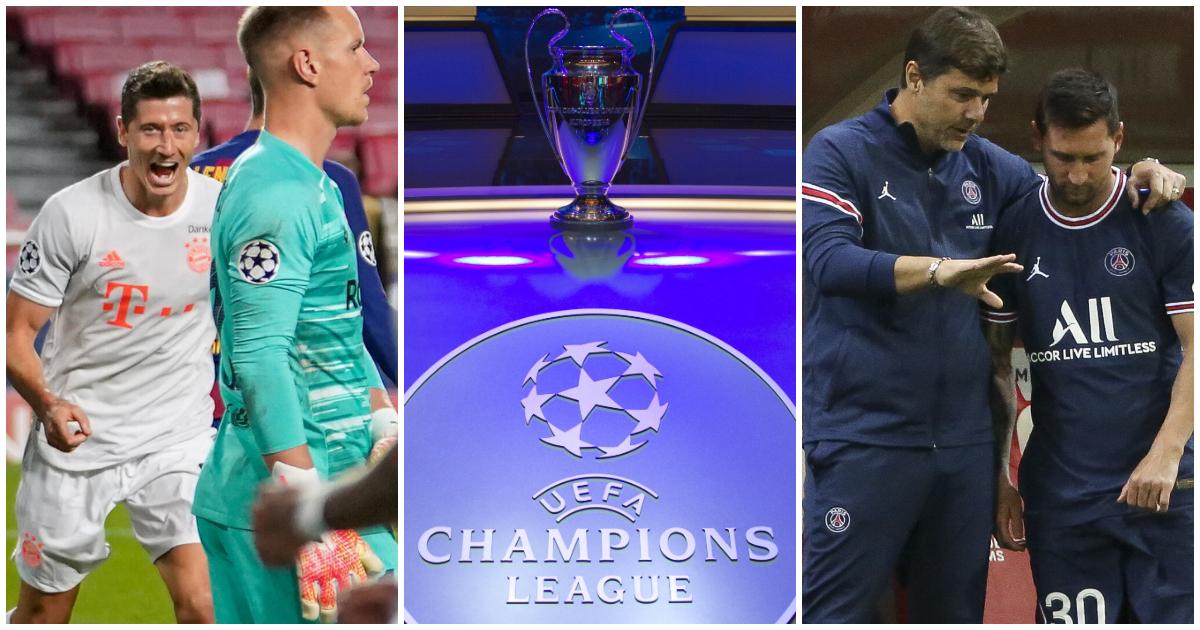 Champions league fixtures Messi Lewandowski PSG Bayern Munich