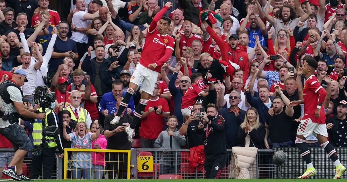 Cristiano Ronaldo celebrates Man Utd Newcastle Old Trafford