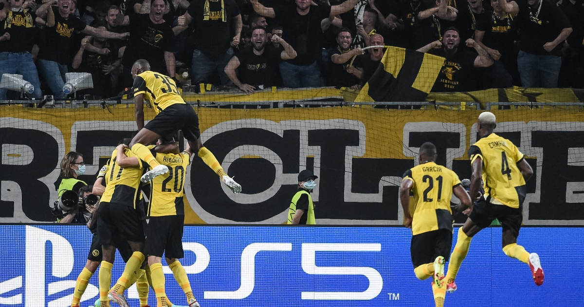 Young Boys against Manchester United