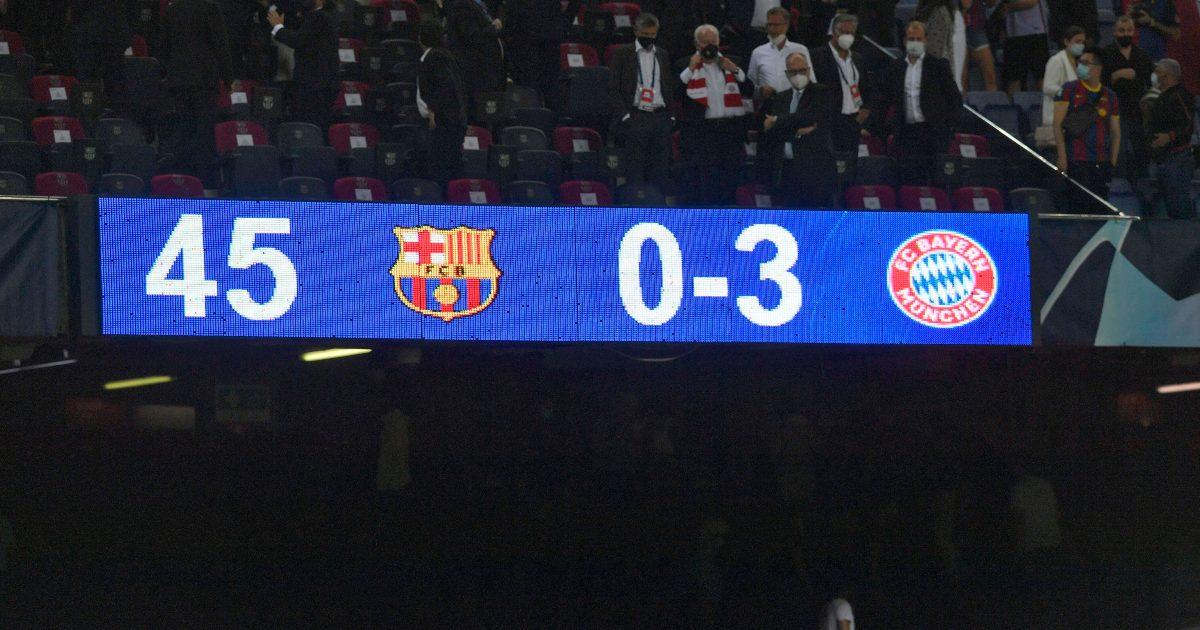 Barcelona scoreboard