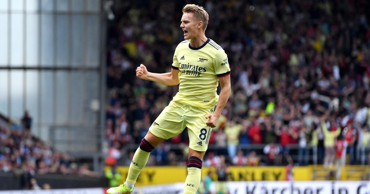 Arsenal midfielder Martin Odegaard