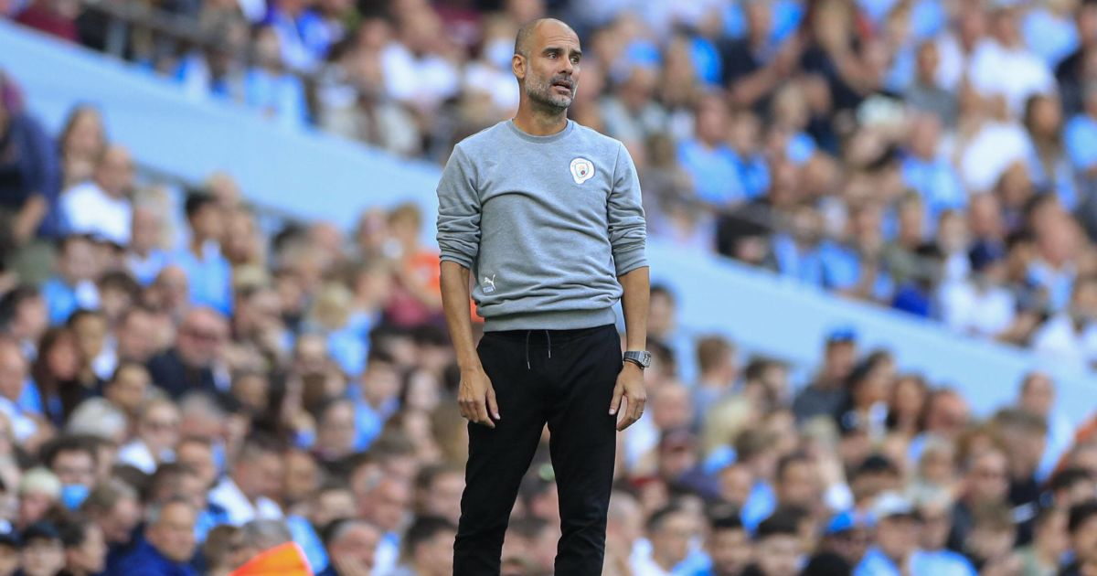 Pep Guardiola looks frustrated as Manchester City take on Southampton