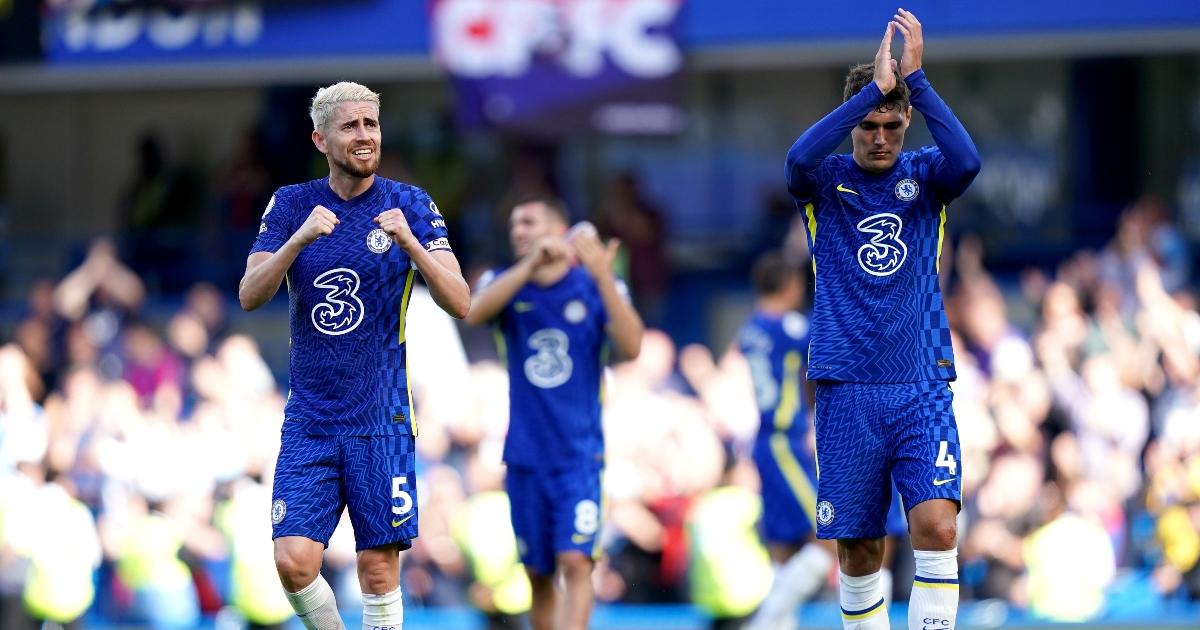 Chelsea players Andreas Christensen and Jorginho